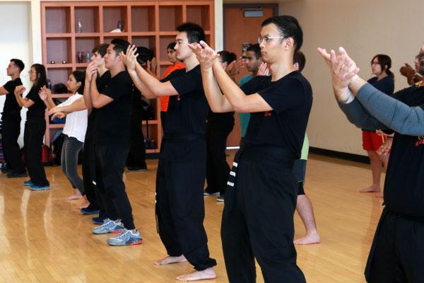 Practacing Sil Lim Tao at Arizona State University