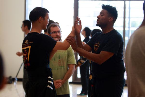 Sifu Isiah teaching technique